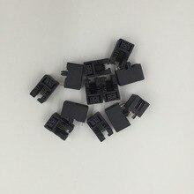Черный 12 шт. 4 Шпильки монтажа на печатной плате Тип RJ11 4P4C модульный телефон гнездо