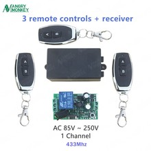 angry monkey 433Mhz Universal Wireless Remote Control Switch AC 110V 220V 1 Channel