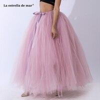 La estrella de mar fluffy 30 color 100CM thick tulle dress cheap adult petticoat woman wholesale enaguas para el vestido de boda