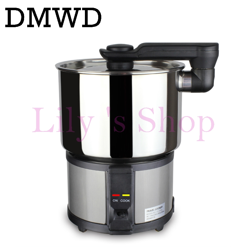 Dual Voltage Travel cooker electric Skillet hot pot heating stainless steel rice MINI cooking pasta machine 110V-220V EU US plug household mini electric induction cooker portable hot pot plate stove dorm noodle water congee porridge heater office eu us plug