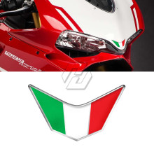 3D Resina Moto Anteriore Carena Decalcomanie Italia Sticker Caso per Ducati 959 969 1199 1299 PANIGALE V4 S R SUPERSPORT(China)