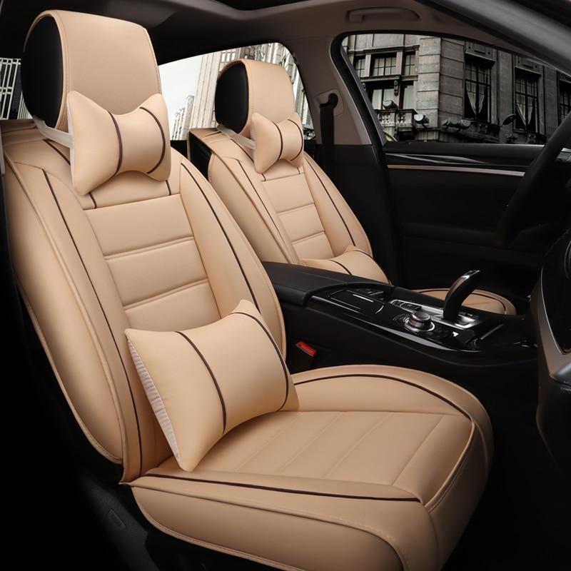 5 Zetels Autostoel Cover Peugeot 206 207 301 307 308 406 407 408 Luxe Pu Leather Auto Universele Auto Stoelhoezen Accessoires