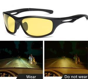 ea41e7e3195 Night Vision Glasses For Headlight Polarized Driving Sunglasses Yellow Lens  UV400