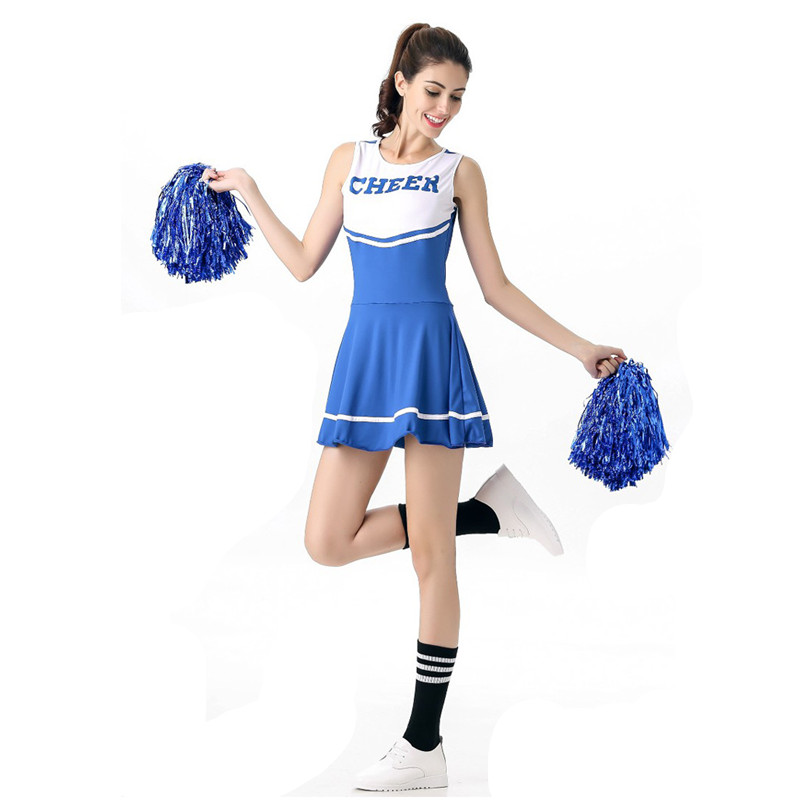 New 6 colors Girls Cheerleaders Cosplay Female Halloween Cheerleading Costume Games sports meeting cheer squad performance dress
