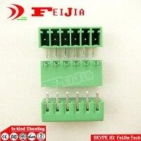 (50 pçs/lote) 15EDG 3.5 6P Dobrar Pin PCB Terminal de Parafuso Do Bloco Conector 3.5mm Pitch 6 Pinos Plug in|Terminais|Renovação da Casa -