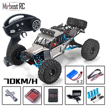 цена на RC Car RTR 2.4g 4WD 4 channel 4x4 70km/h RC car desert truck brushless metal upgrade PK WLtoys 12428 12423  kids toys  for boys