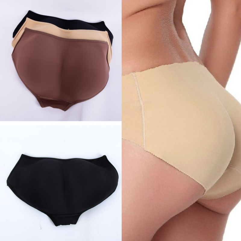 Women Soft Seamless Sexy Panty Knickers Buttock Backside Silicone Bum Padded Butt Enhancer Hip Up Underwear in women 39 s panties from Underwear amp Sleepwears