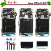 White Blue New Replacement Part For Samsung Galaxy S4 I9500 I9505 I337 LCD Display Touch Screen
