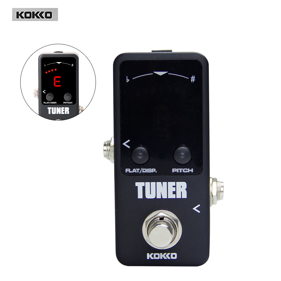 Guitar Parts & Accessories KOKKO FTN2 Mini Pedal Tuner LED Screen Guitar effect pedal kokko frb2 mini space pedal portable guitar effect external ac adapter delivering 9v dc regulated guitar parts