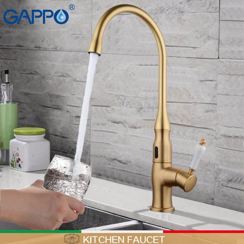 GAPPO Sensor Basin Faucet automatic Water Mixer waterfall basin taps infrared basin Sink faucet touchless basin mixer tap цены
