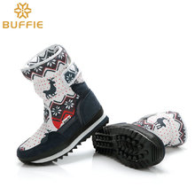 Kids big size snow boots Children Warm Boots Girls fashion winter boots plush fur  Teenager school winter shoes Navy red colour