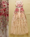 Best Quality New Fashion Wedding Party Dress 2015 Spring Women Exquisite Embroidery Floral Long Dress Special Occasion Dress