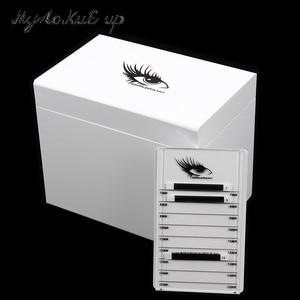 Image 5 - Clear Eyelashes Storage Box 10 Layers Acrylic Pallet Lash Holder Individual lash Volume Display Stand For Eyelash Extension Tool