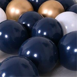 Image 3 - 30 قطعة بالونات في منتصف الليل الأزرق الداكن بالونات صغيرة صغيرة اللاتكس بالونات الباستيل العازبة حفلة عيد ميلاد استحمام الطفل الديكورات