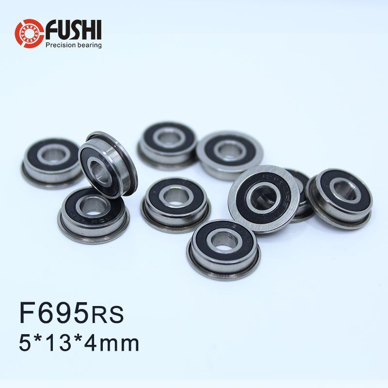 10 Flanged Bearing F695 ZZ 5*13 mm Metric Ball Bearings
