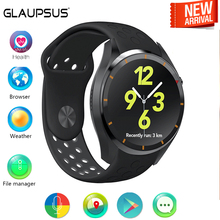 GLAUPSUS SI3 3G Smartwatch Android MTK6580 1 3GHz Quad Core 512MB Pedometer WiFi Heart Rate Measurement