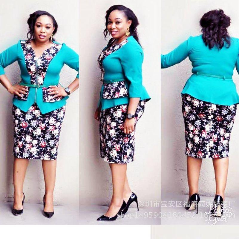 2018 african clothes women tops skirts 2 pcs set suits ...