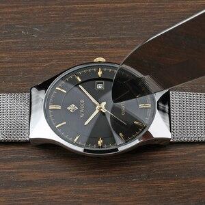 Image 3 - VIP WWOOR 8016 Ultra dünne Mode Männlichen Armbanduhr Top Marke Luxury Business Uhren Wasserdicht Kratz beständig Männer Uhr