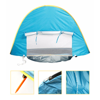 Portable UV proof Baby Beach Tent w/ Pool Waterproof Pop Up Sun Shelter Kids Infant Outdoor Camping Sunshade Foldable Beach Tent