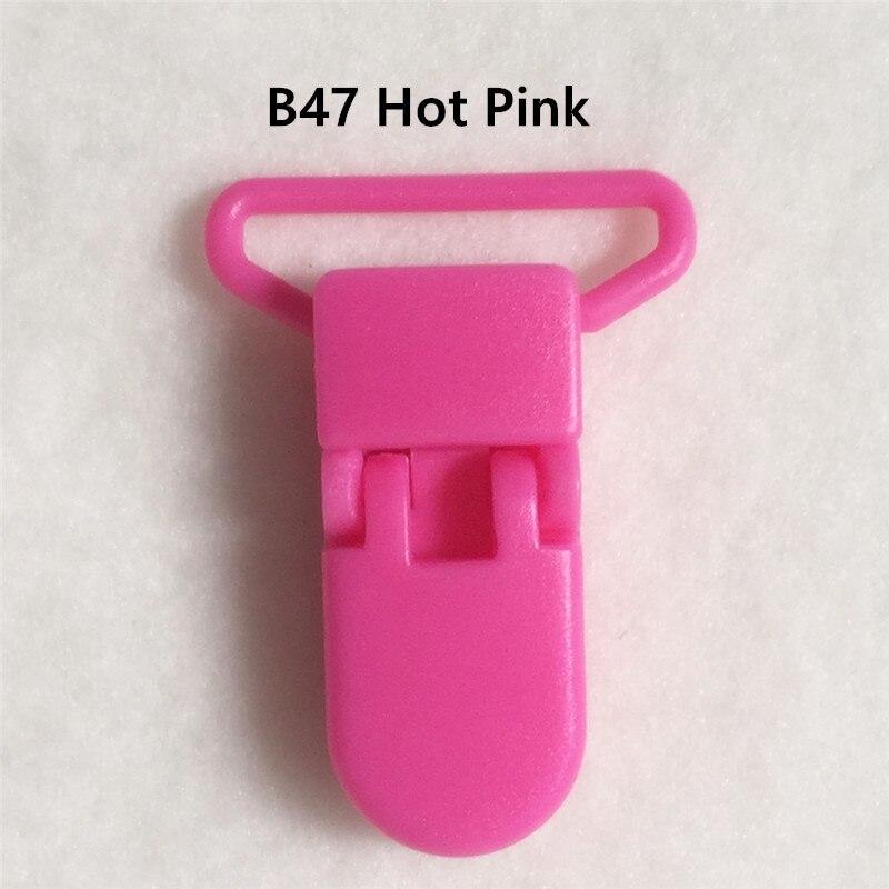 20 цветов смешанный) DHL 300 шт. Горячие формы D 2.5 см 1 ''Пластик маленьких Соски соска пустышка адаптер Chain Зажимы для 25 мм ленты - Цвет: B47