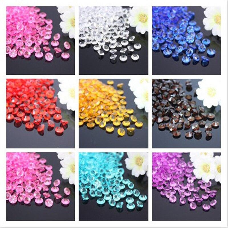 10,000 pcs/pack 4.5mm 1/3 Carat Crystal Clear Confettis de Diamant De Tableau De Mariage Scatter Décoration nuptiale de douche de mariage décoration
