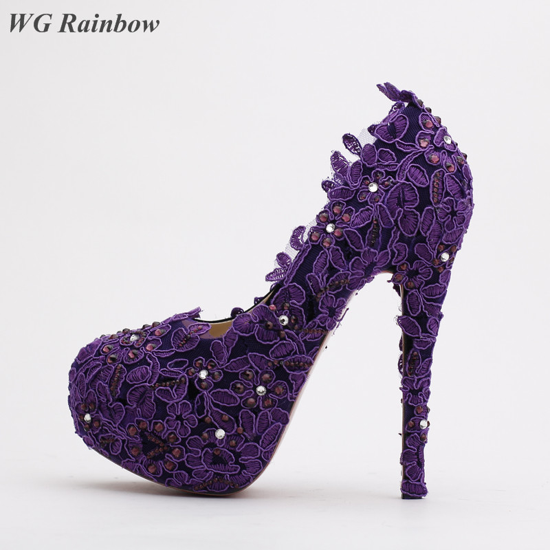 Popular Purple Rhinestone High Heels-Buy Cheap Purple Rhinestone ...