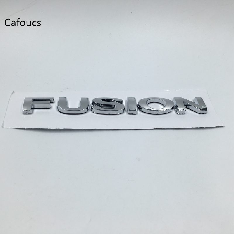 Cafoucs For Ford Fusion Chrome FUSION Rear Trunk Lid Nameplate Emblem emblem
