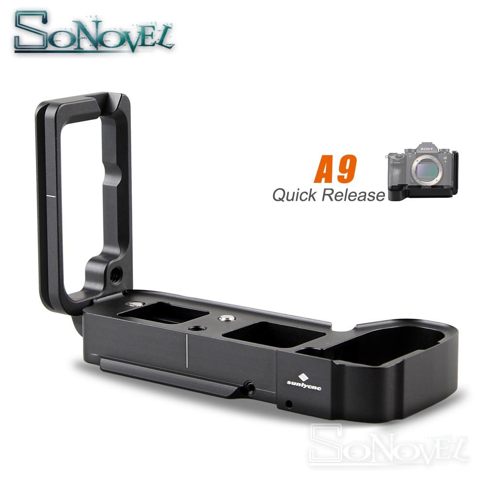 A9 Quick Release L Plaque/Support Titulaire main Grip pour Sony a9 A7MIII A7RIII A7R3 A7M3 RRS Benro SIRUI compatible et Stretch