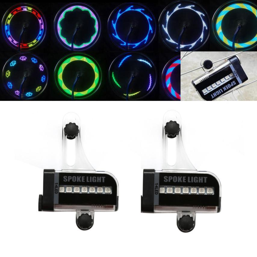 New Arrival Youthful Style 2x 22LED Motorcycle Cycling Bicycle Bike Wheel Signal Tire Spoke Light 30 Changes Cycling Flashlight