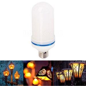 Image 5 - B22 E27 E26 E14 E12 żarówka LED z efektem płomienia 85 265V efekt płomienia LED lampka imitująca ogień migotanie emulacji Decor lampy LED 3W 5W 7W 9W