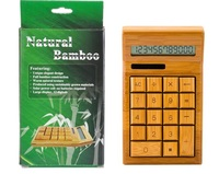 2017 Hot Sale Bamboo Solar Calculator 12 Digitals Luxury Power Cell Need Batteries 100 Full Construction