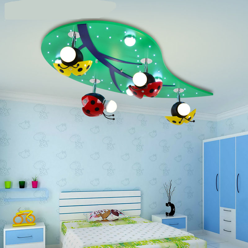 Creative personality ceiling lamp cartoon childrens room lamp boy bedroom lamp baby room lamp girl eye ceill lamp wl4211655
