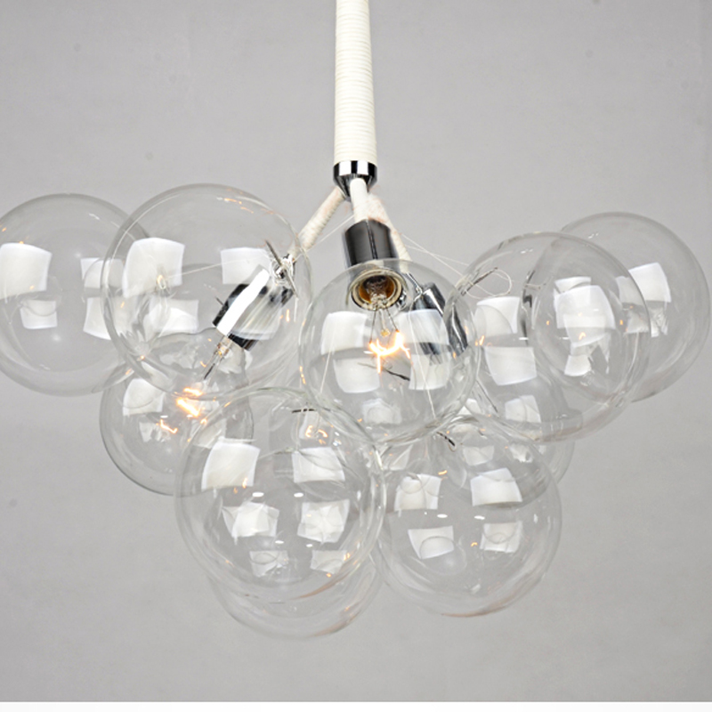 Fabulous Modern Black White Creative Glass Bubble Pendant Lamp Light Glass  JT38