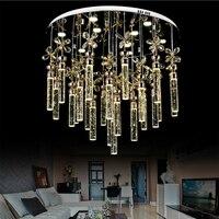 Super Simple Bubble Crystal Column Living Room Lamp Bedroom Chandelier Led Creative Fashion Modern Led Lighting