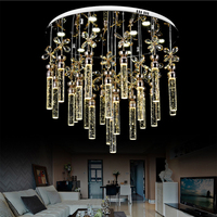 Super Simple Bubble Crystal Column Living Room Lamp Bedroom Chandelier Led Creative Fashion Modern Led Lighting