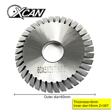 XCAN высокоскоростной стальной диаметр 60 мм Циркулярный пильный диск ключ режущая машина пилы 36 зубьев wenxing ключ машина