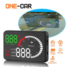 Geyiren X6 HUD Head Up Display 3'' Screen OBD II Interface Car HUD Vehicle Speed Electronic Car Display Speedometer Hud Display autool x210 auto hud car head up display digital speed windshield projector vehicle projection automotive obd 2 ii speedometer