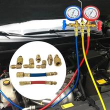 8 шт. Универсальный R-12A/C кондиционер коллектор преобразования латунный адаптер шланг набор высокого класса R134a холодный газ преобразования соединения