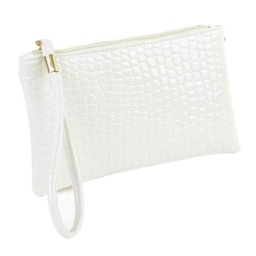 2018 saco de embreagem das mulheres PU de couro de Crocodilo Padrão de sacos de mulheres envelope clutch bag evening Embreagens Bolsas doce cor quente