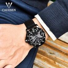 CADISEN New Mens Watches 2018 Top Brand Luxury Waterproof Date Quartz Watch Man Leather Sport Wrist Watch Relogio Masculino недорого