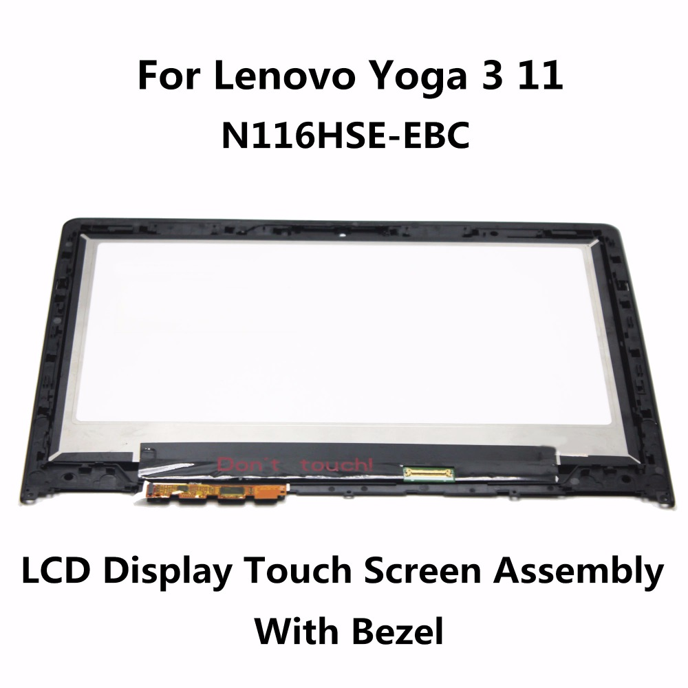 New For Lenovo Yoga 3 11 80J80021US Touch screen Digitizer Display N116HSE-EBC 11.6 LCD LED Assembly FHD IPS with Frame Bezel