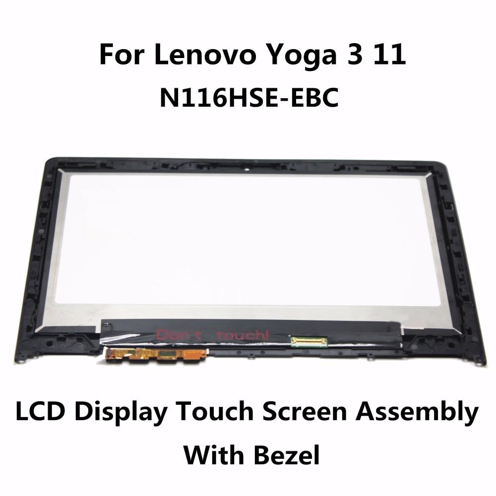 New For Lenovo Yoga 3 11 80J80021US Touch screen Digitizer Display N116HSE-EBC 11.6 LCD LED Assembly FHD IPS with Frame Bezel new origianl for lenovo yoga 11s us keyboard