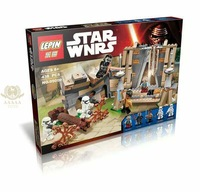 LEPIN 017 438Pcs Star Wars Battle On Takodana Model Building Blocks Kits Bricks Toys Compatible With