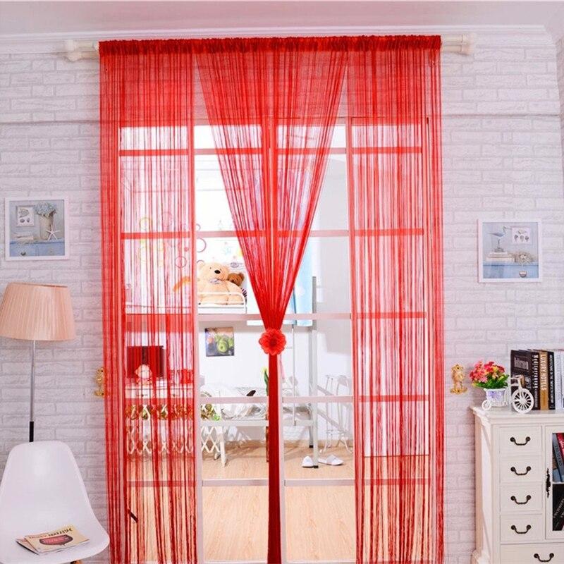 100*200 см Линия кисточкой Строка двери Шторы окна перегородкой Шторы s Тюль фон Шторы s Home Decor c5