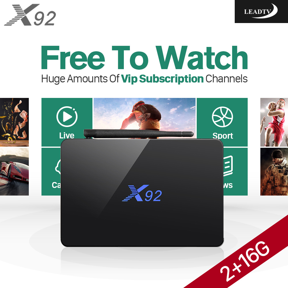 Smart stb X92 Android TV Box 2g ram Octa Core HD with IPTV 1 Year 700+ Channels acoount Europe Arabic TV Receivers hdd плеер abox tv 4g android tv box hd