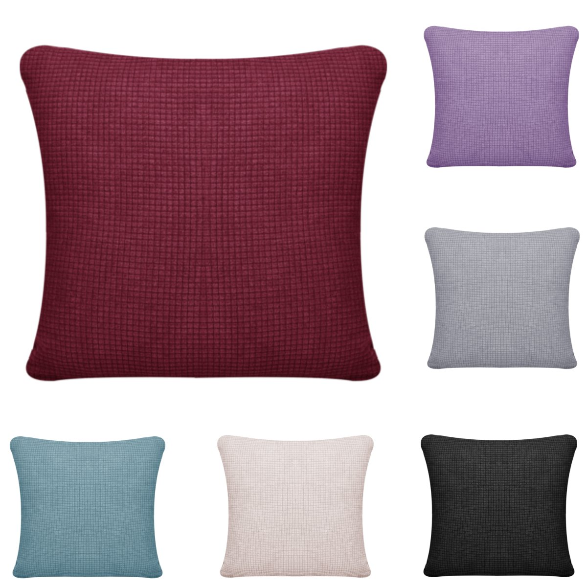 Soft Throw Pillow Cover Polyester Cushion Cover Waterproof Lattice Cushion Cover For Living Room Sofa Home Decoration 6 Colors image