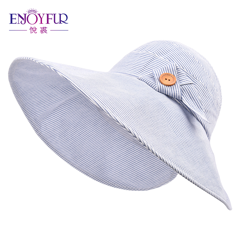 638b3bcd8a5 ENJOYFUR Summer Sun Hats For Women Big Brim Open top Visor Sun Hats Ponytail  Beach Hat Foldable And Easy To Carry-in Sun Hats from Apparel Accessories  on ...