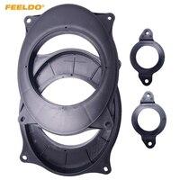 FEELDO 1Pair Car Stereo Audio Rear Speaker Spacer Adapter Hold Refitting Mat For Toyota Camry Highlander