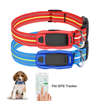 Waterproof Pets GPS Tracker for Cat Dog Anti lost LED Locator Collar GSM WIFI LBS Real Time APP Tracking Alarm Device Geofence