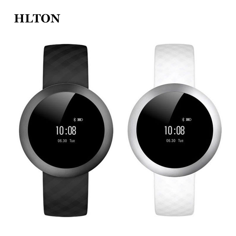HLTON Smart Bluetooth Wristband Health Wrist Bracelet Heart Rate Monitor Passometer Call Remind Smart Watch For